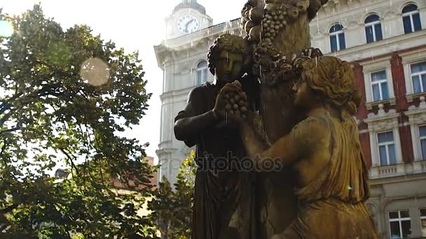 Baroque fountain in Prague
