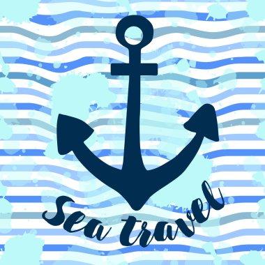 Marine card with anchor.