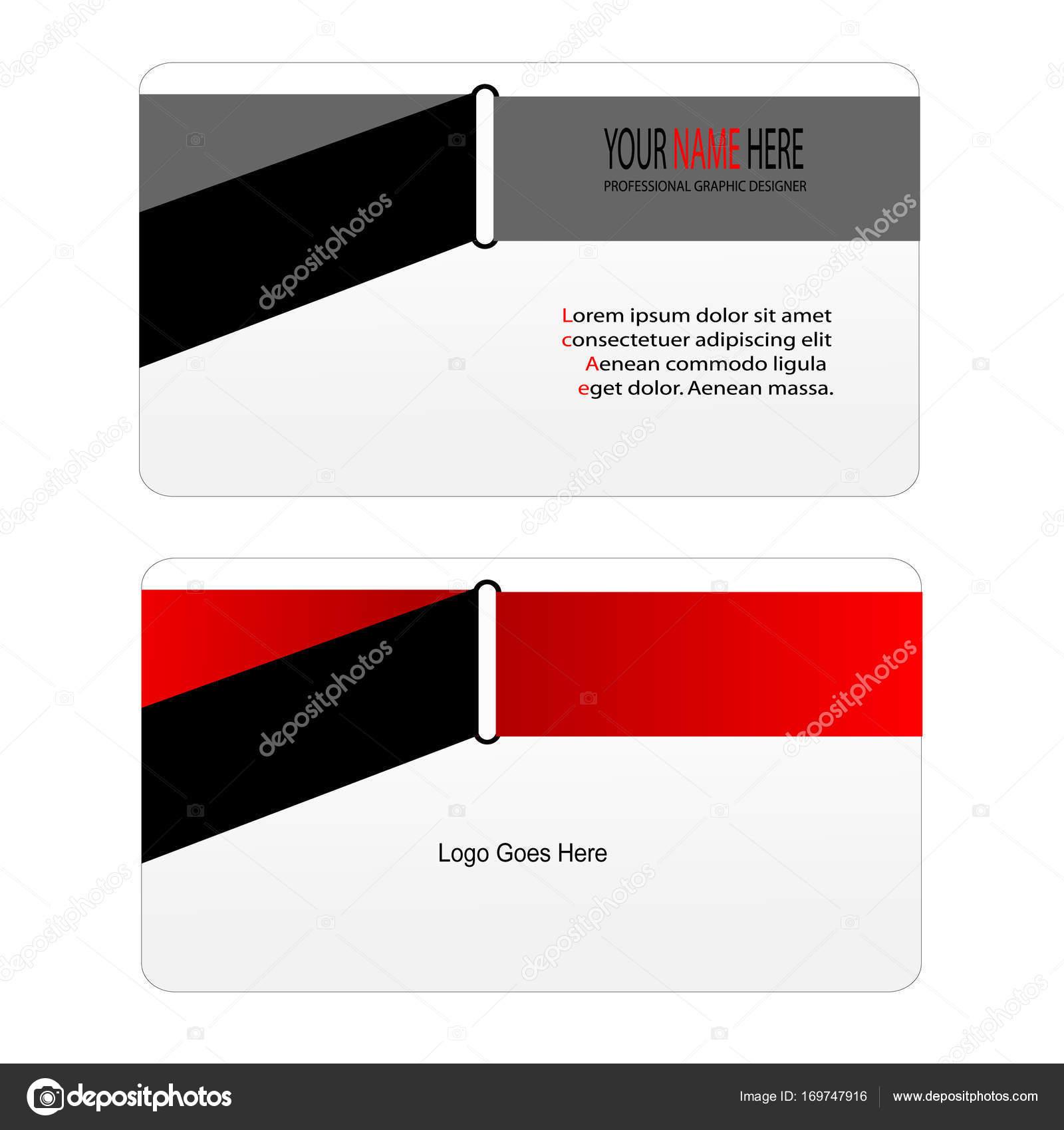 Carte De Visite Cool Decor Rouge Et Argent Manque Style Illustration Vectorielle Vecteur Par Mralviqgmail