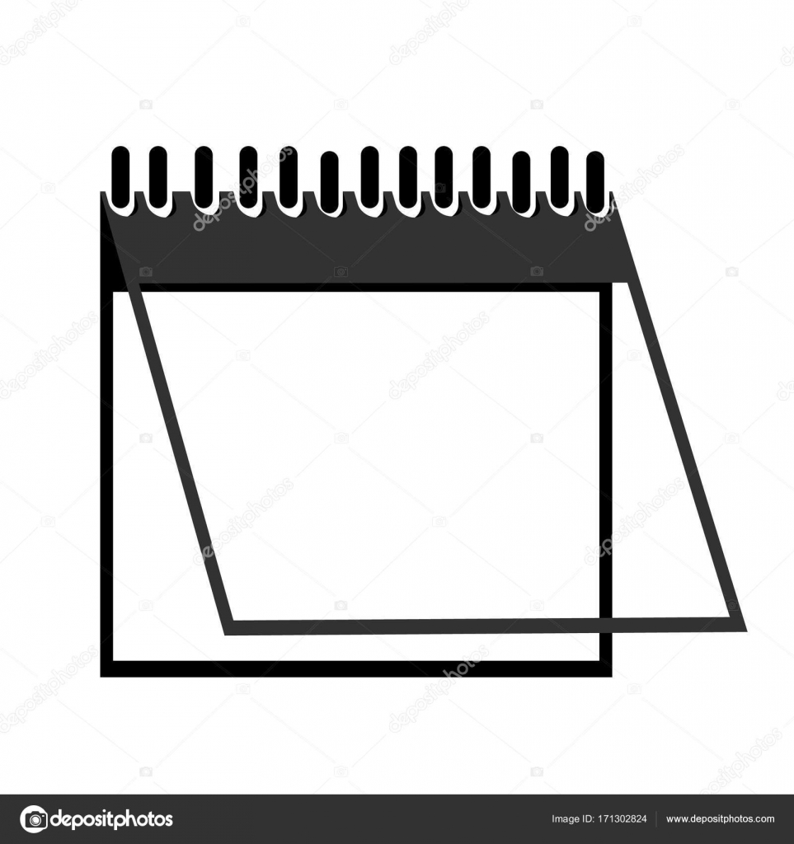 Calendario Vector Blanco.Calendario Vector Doble Pagina Carpeta Calendario Icono