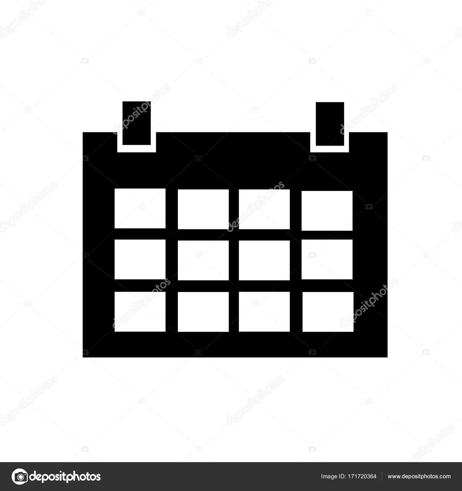 Calendario Icona.Icona Del Calendario In Stile Piano Isolato Sfondo Per Il