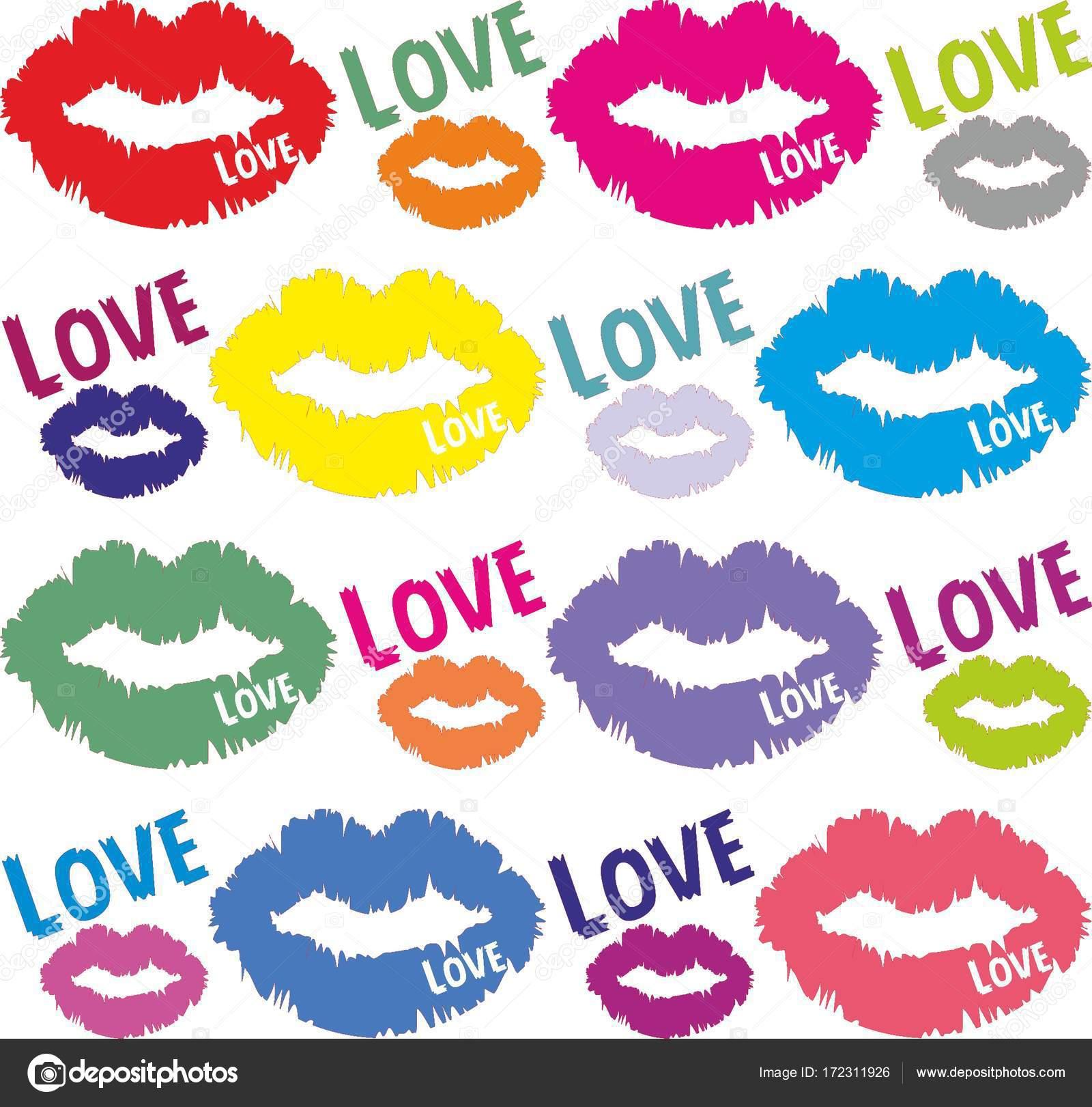 Background Lip Wallpaper Stock Vector C M Bogdanova