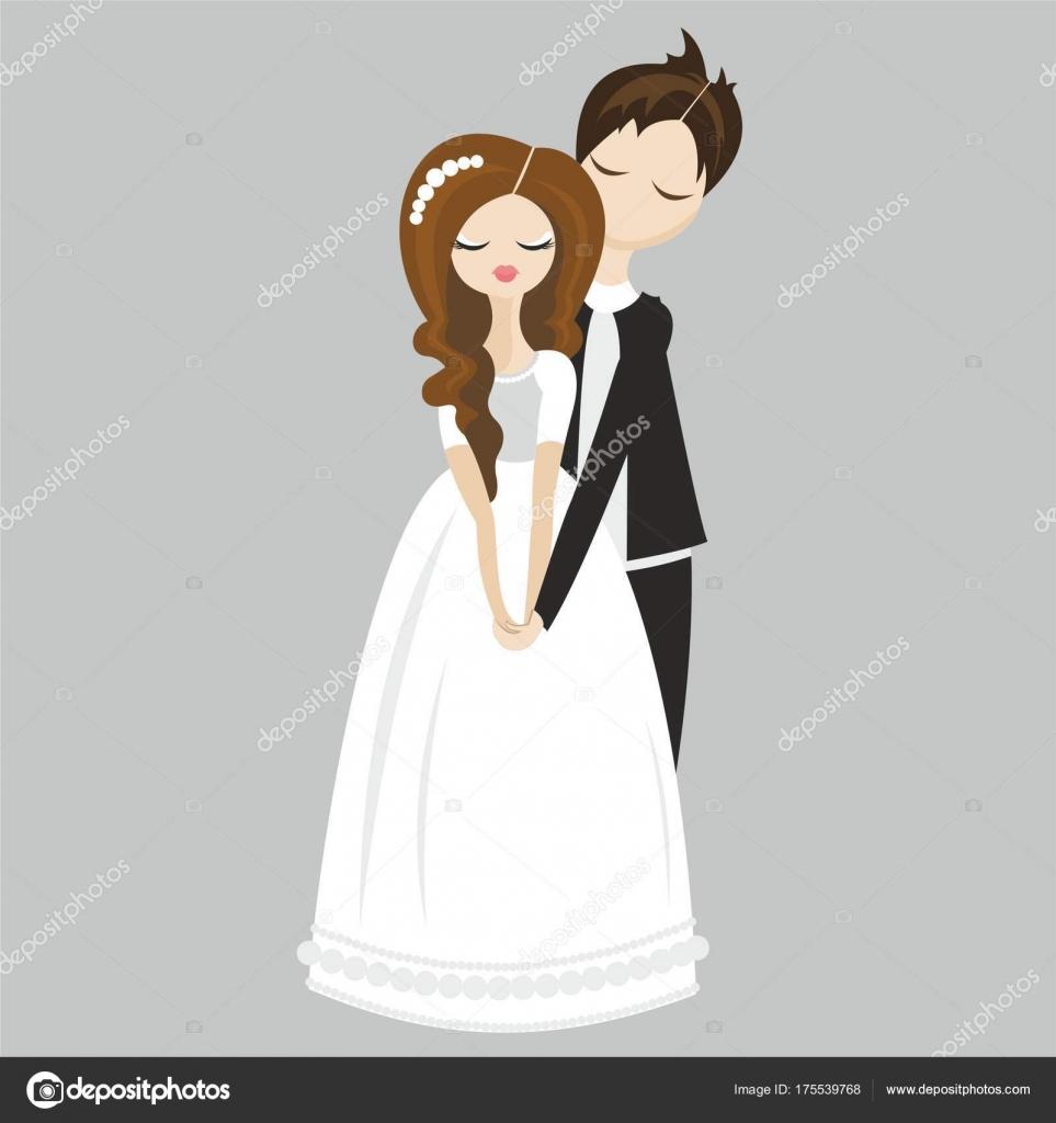 Wedding Family Bride Groom Postcard Wedding Invitation — Stock ...