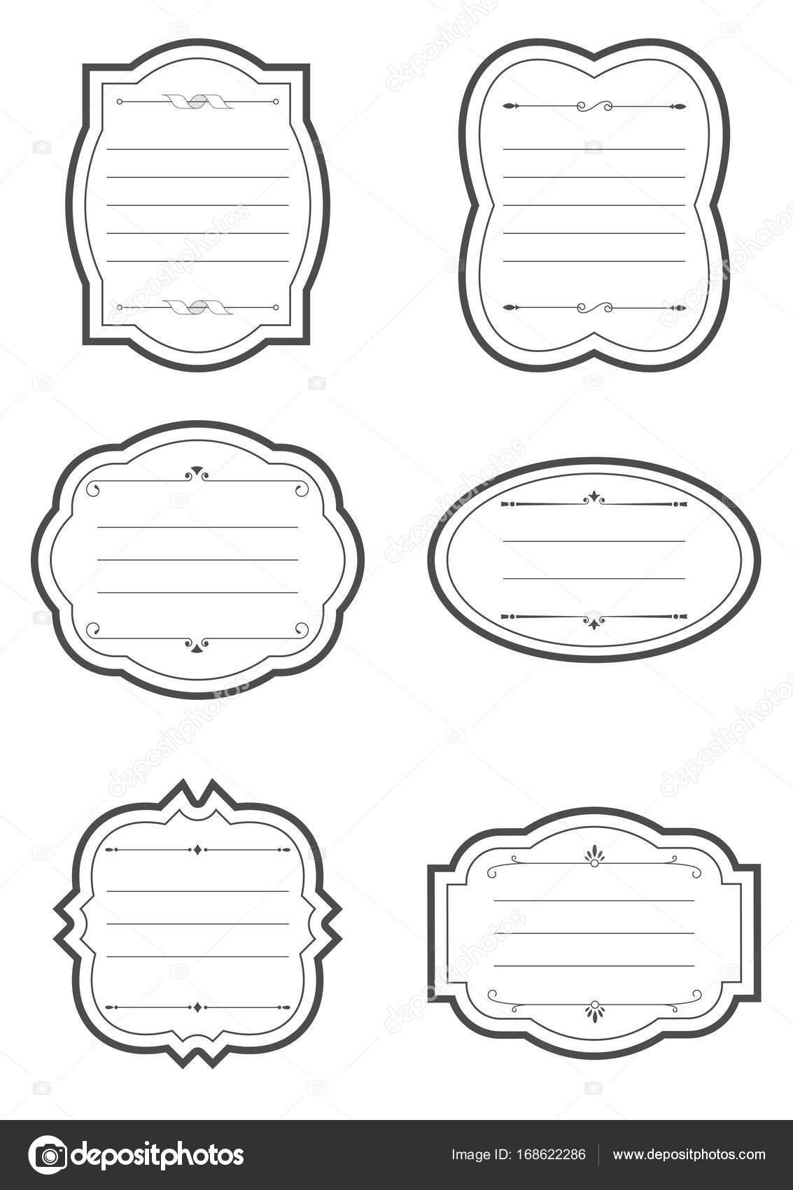 Marcos antiguos con elementos decorativos. Placas y etiquetas de ...