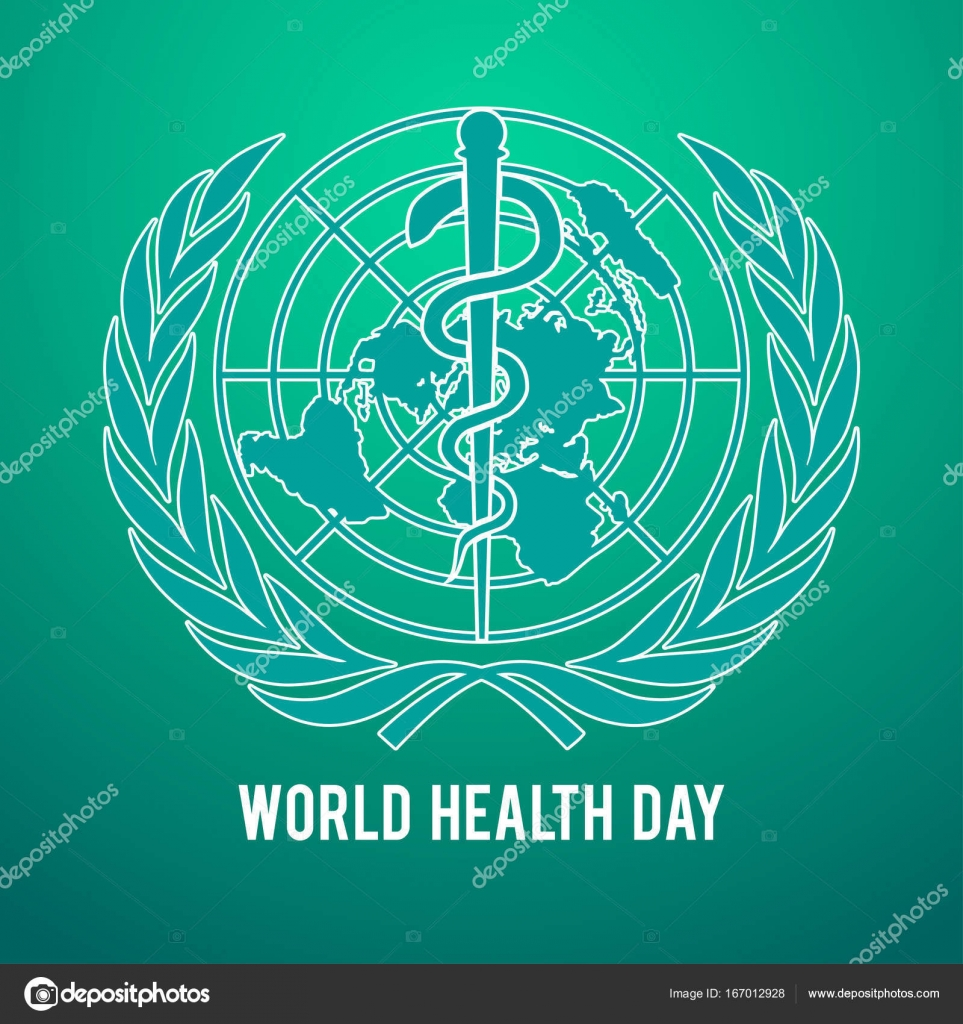 World Health Day Symbol United Nations Logo And The Staff Of Asclepius