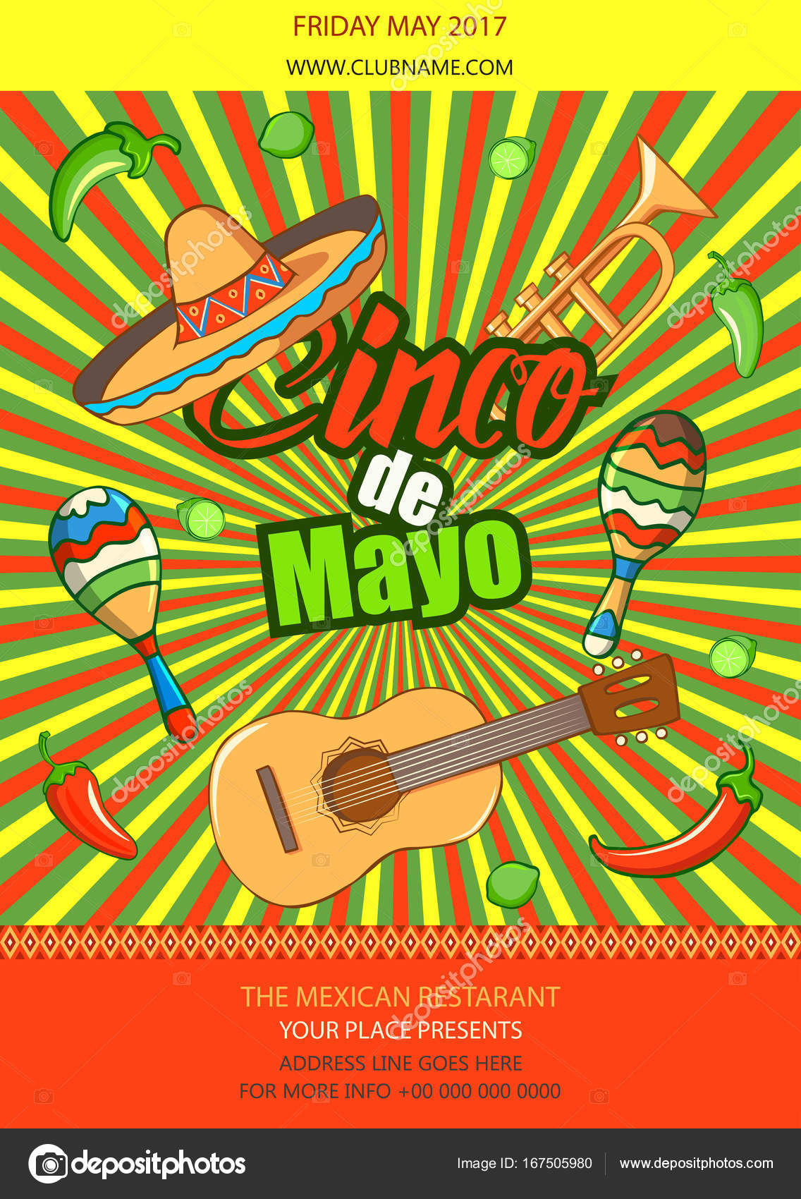 cinco de mayo celebration in mexico design element stock vector