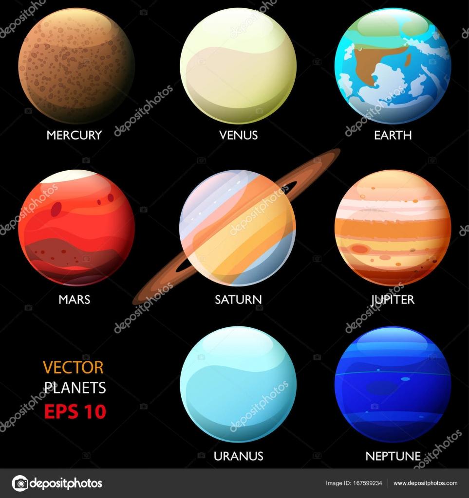 Imágenes Los Ocho Planetas Conjunto De Los Ocho Planetas