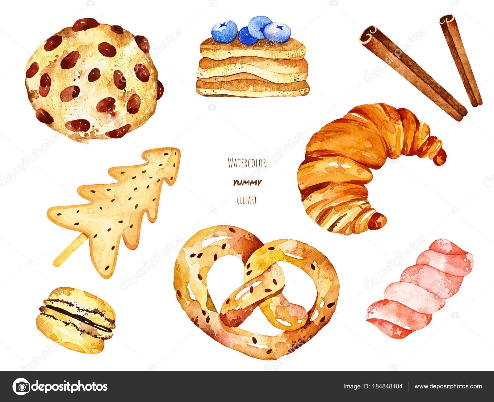 Akwarela Yummy Elementów Zdjęcie Stockowe Lunaart 184848104