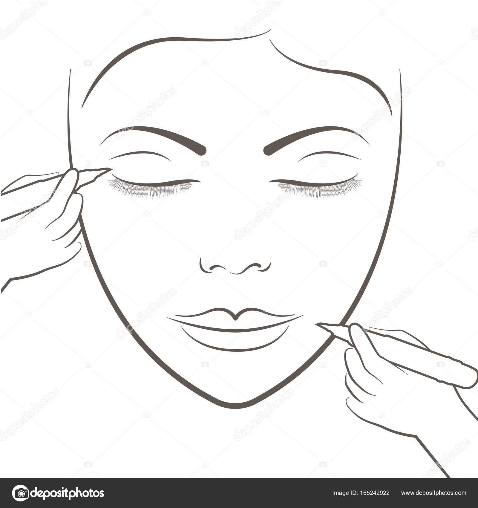 Atractiva Señora Para El Cuidado Facial Y Del Tatuaje Y Maquillaje