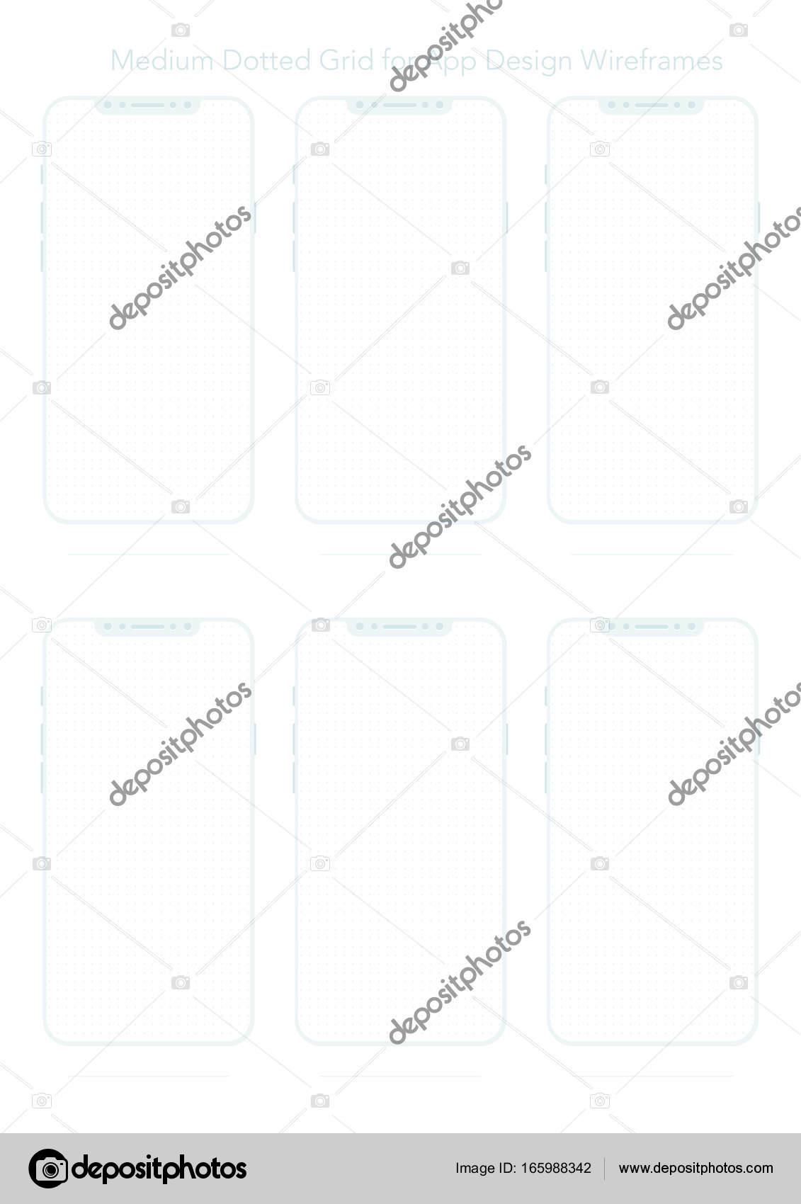 A4 Gepunktete Papier für App-Designs — Stockvektor © siminitzki ...