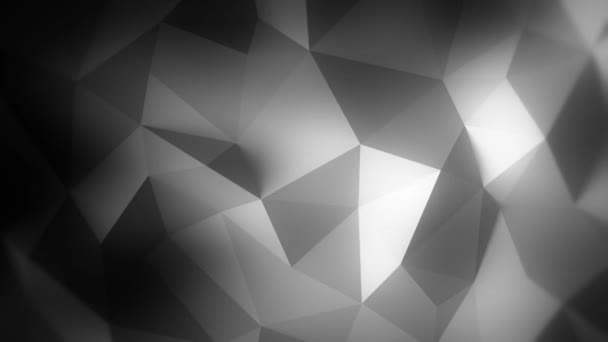 Animated 3D backgroung triangles abstract