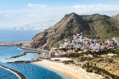 Blue lagoon and beach in Tenerife