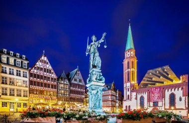 Statue of justice in Frankfurt old city