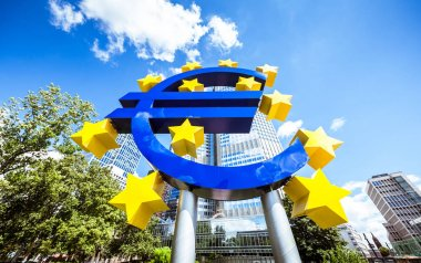 Euro currency sign at ECB