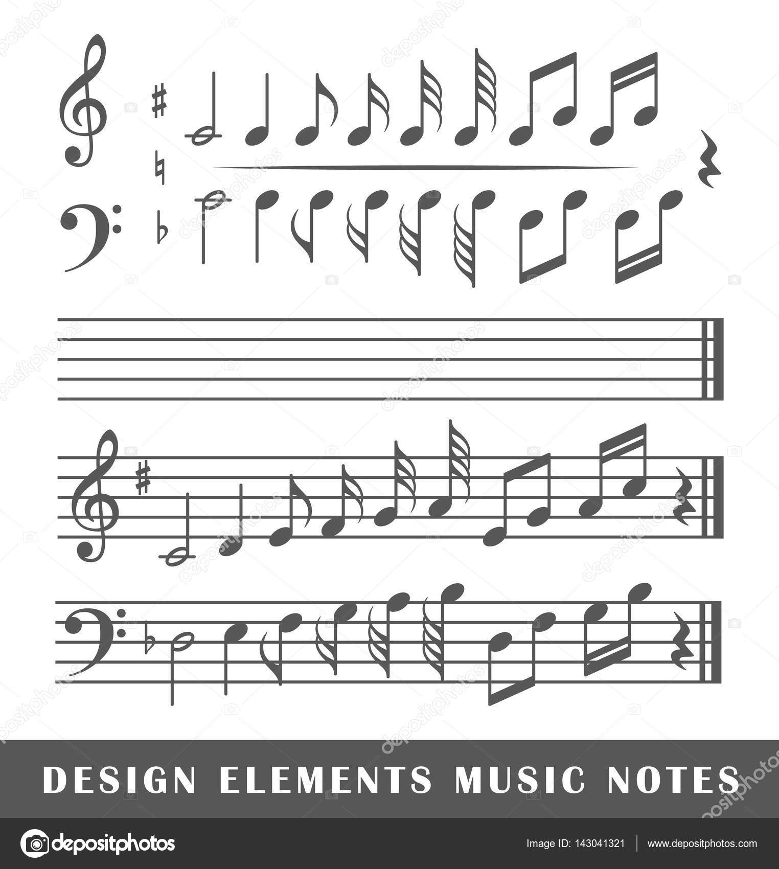 Musical notes isolated on white background stock vector musical notes isolated on white background stock vector biocorpaavc Gallery