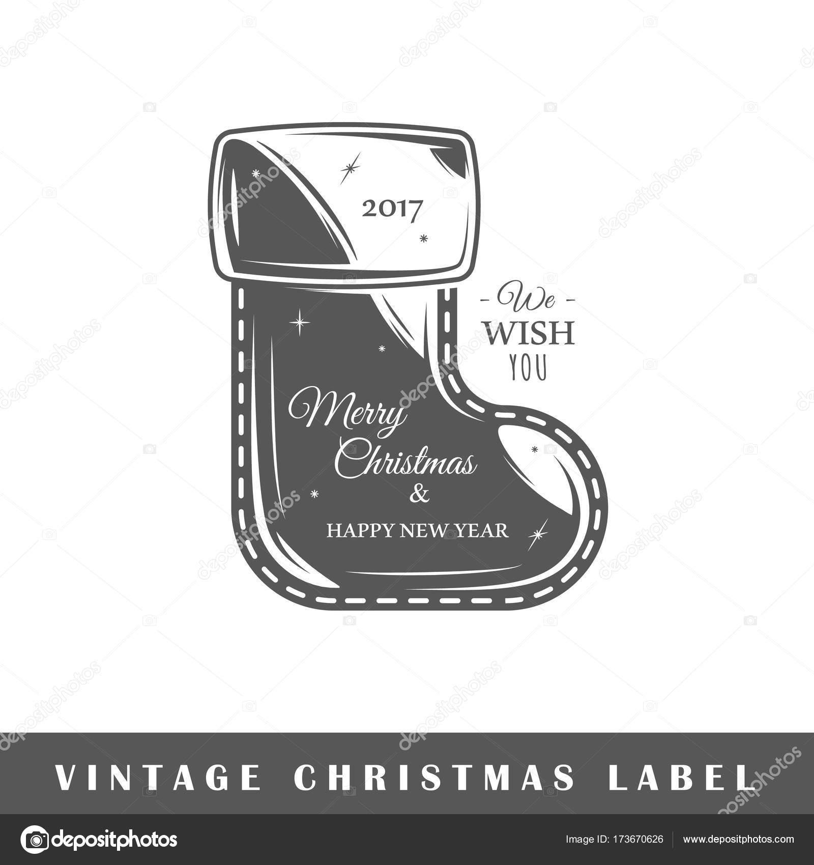 Plantilla de etiqueta de Navidad — Vector de stock © Shabanov_Sergey ...