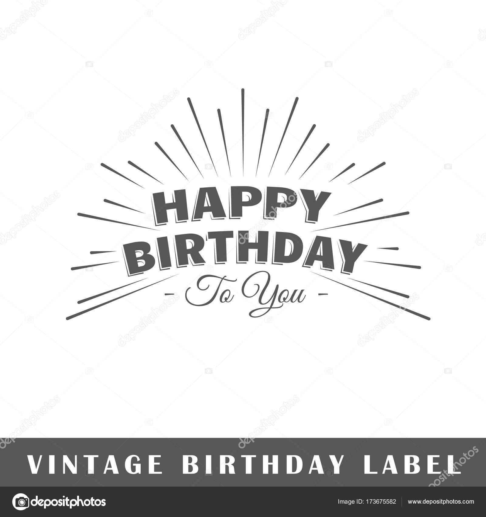 birthday label template stock vector shabanov sergey 173675582