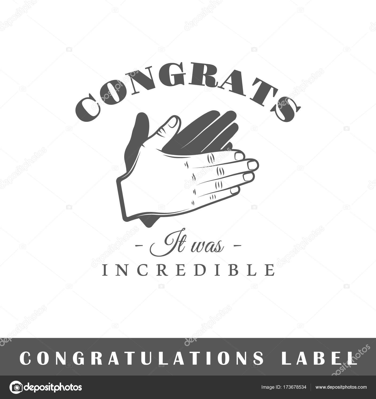 Plantilla de etiqueta de felicitación — Vector de stock ...