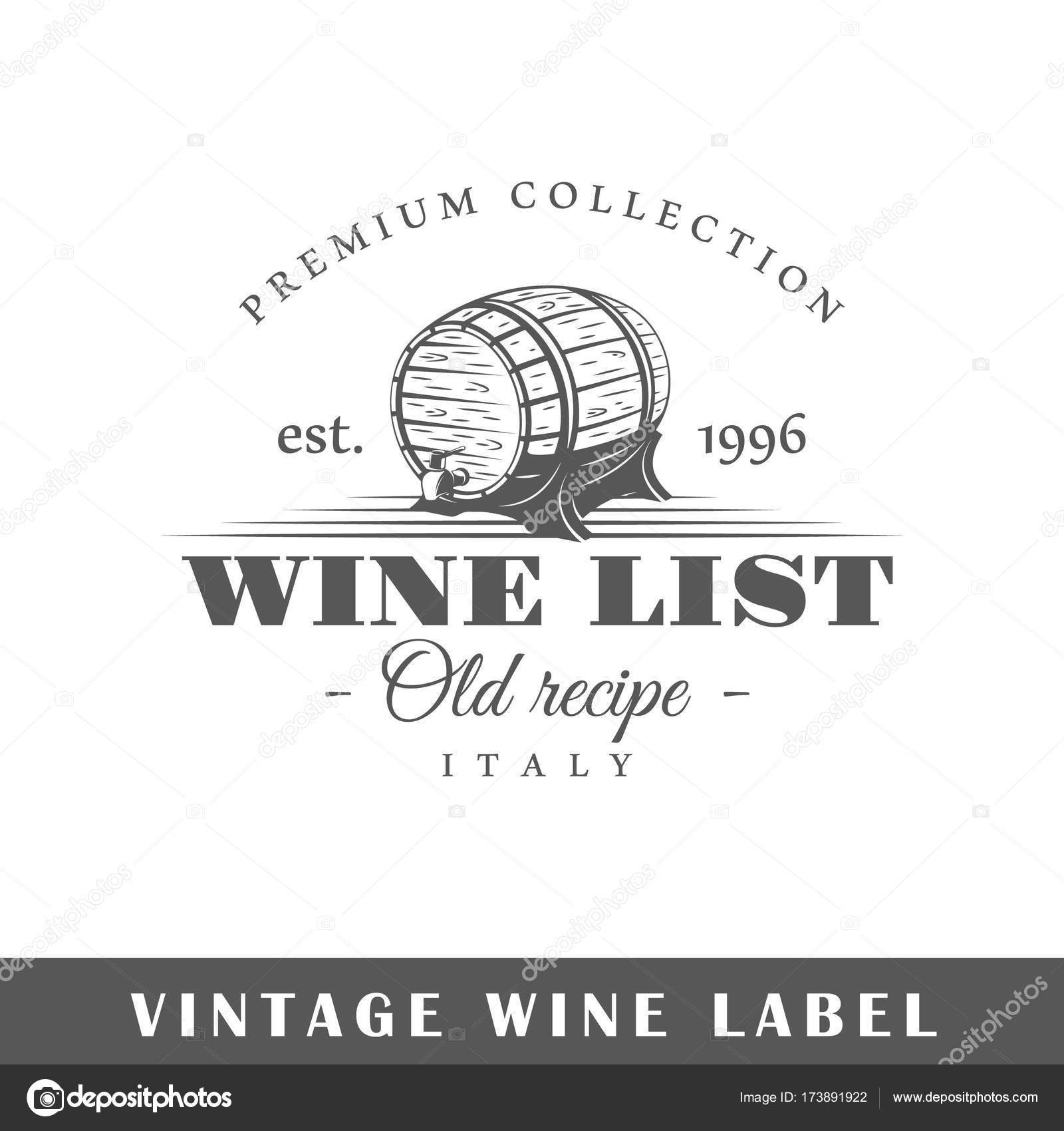 Wine Label Template | Wine Label Template Stock Vector C Shabanov Sergey 173891922
