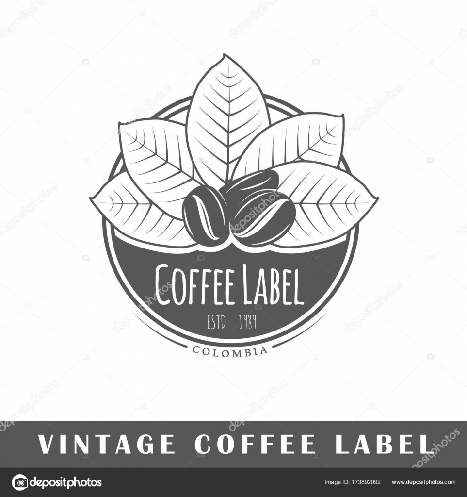 plantilla de etiqueta de café — Vector de stock © Shabanov_Sergey ...