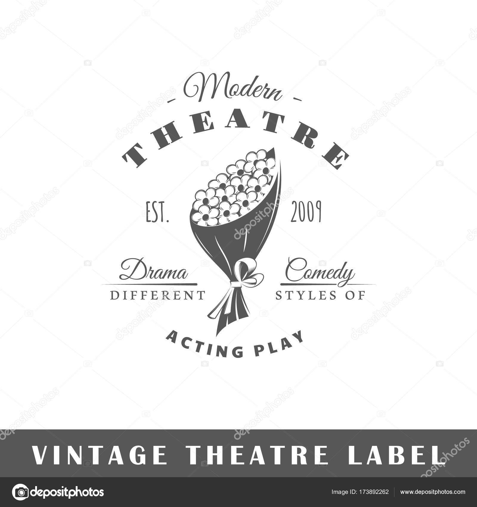 Plantilla de etiqueta de teatro — Vector de stock © Shabanov_Sergey ...