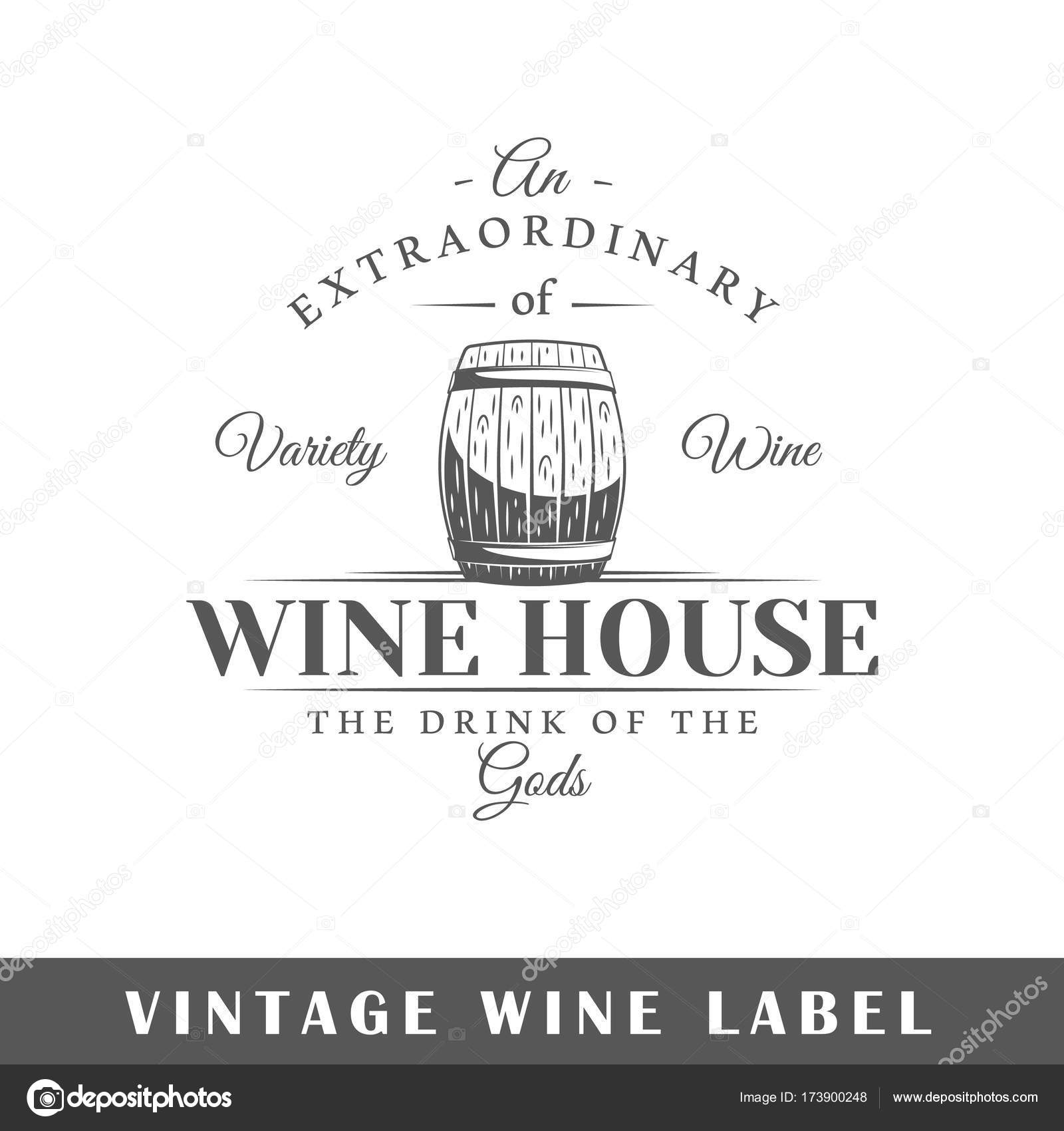 Wine Label Template Stock Vector C Shabanov Sergey 173900248