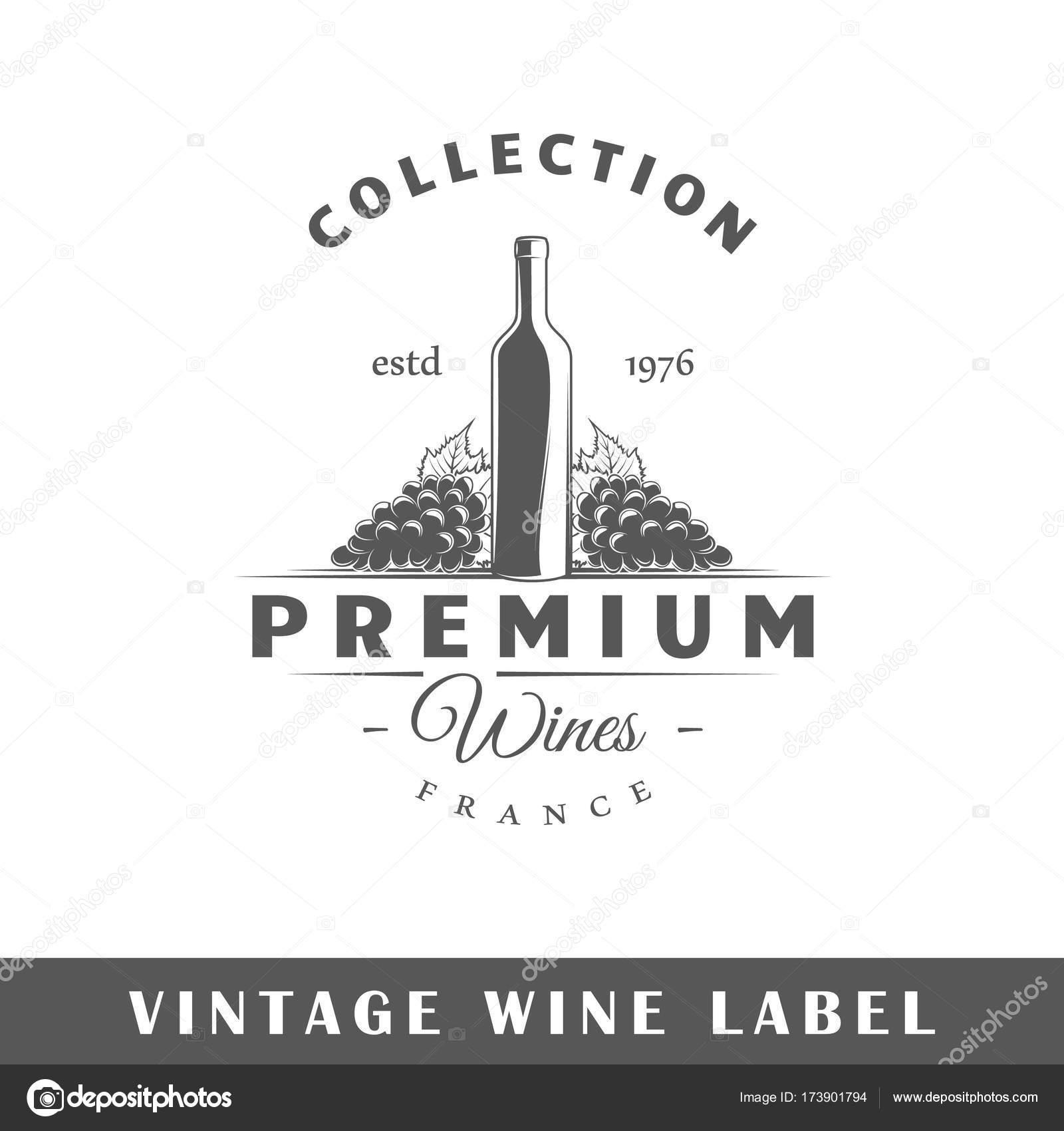 wine label template stock vector shabanov sergey 173901794