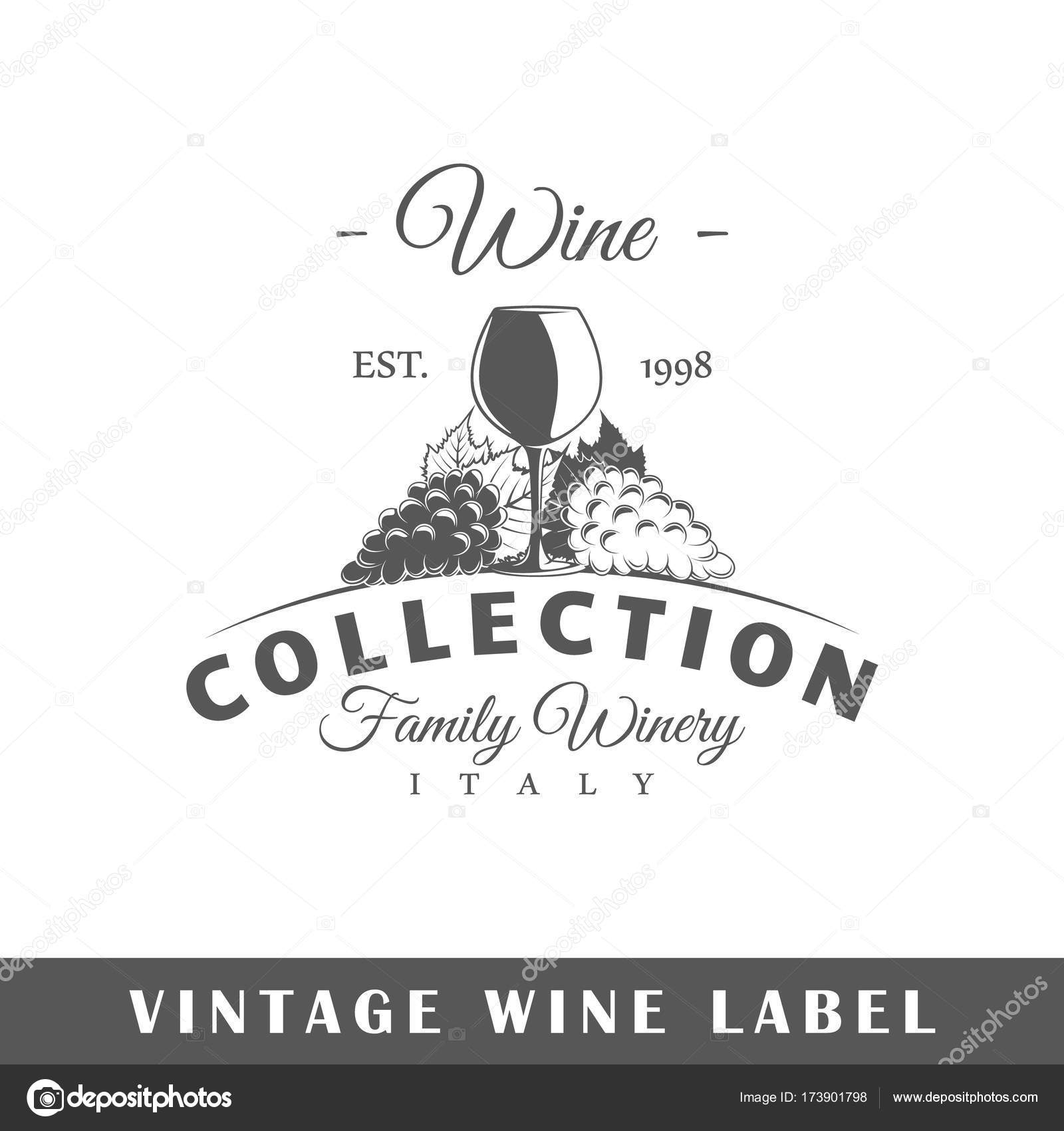 Wine Label Template Stock Vector C Shabanov Sergey 173901798