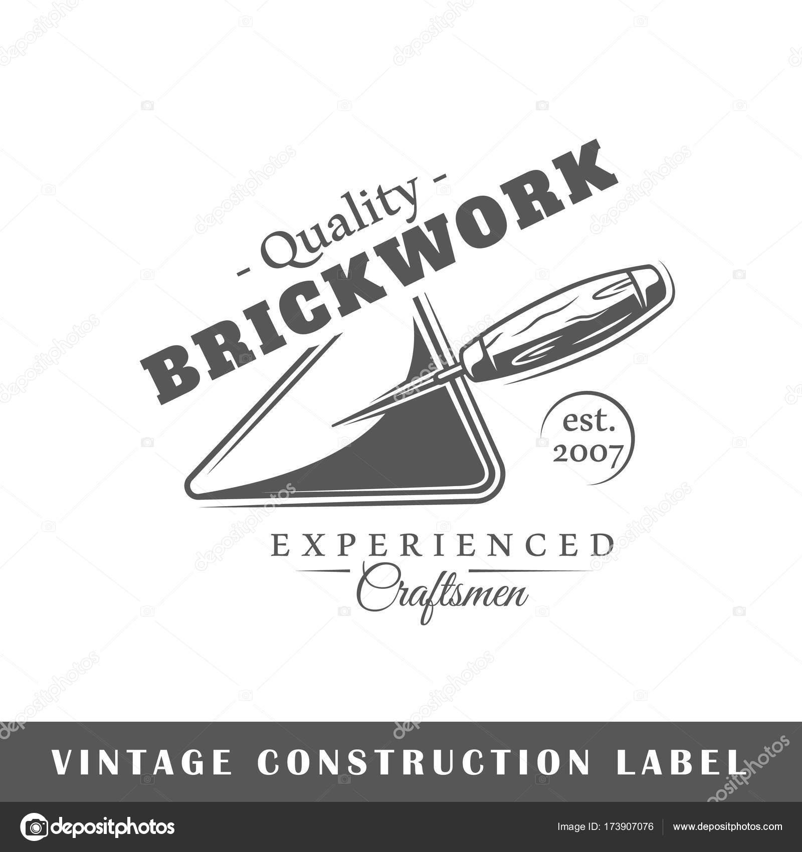 Plantilla de etiqueta de construcción — Archivo Imágenes Vectoriales ...