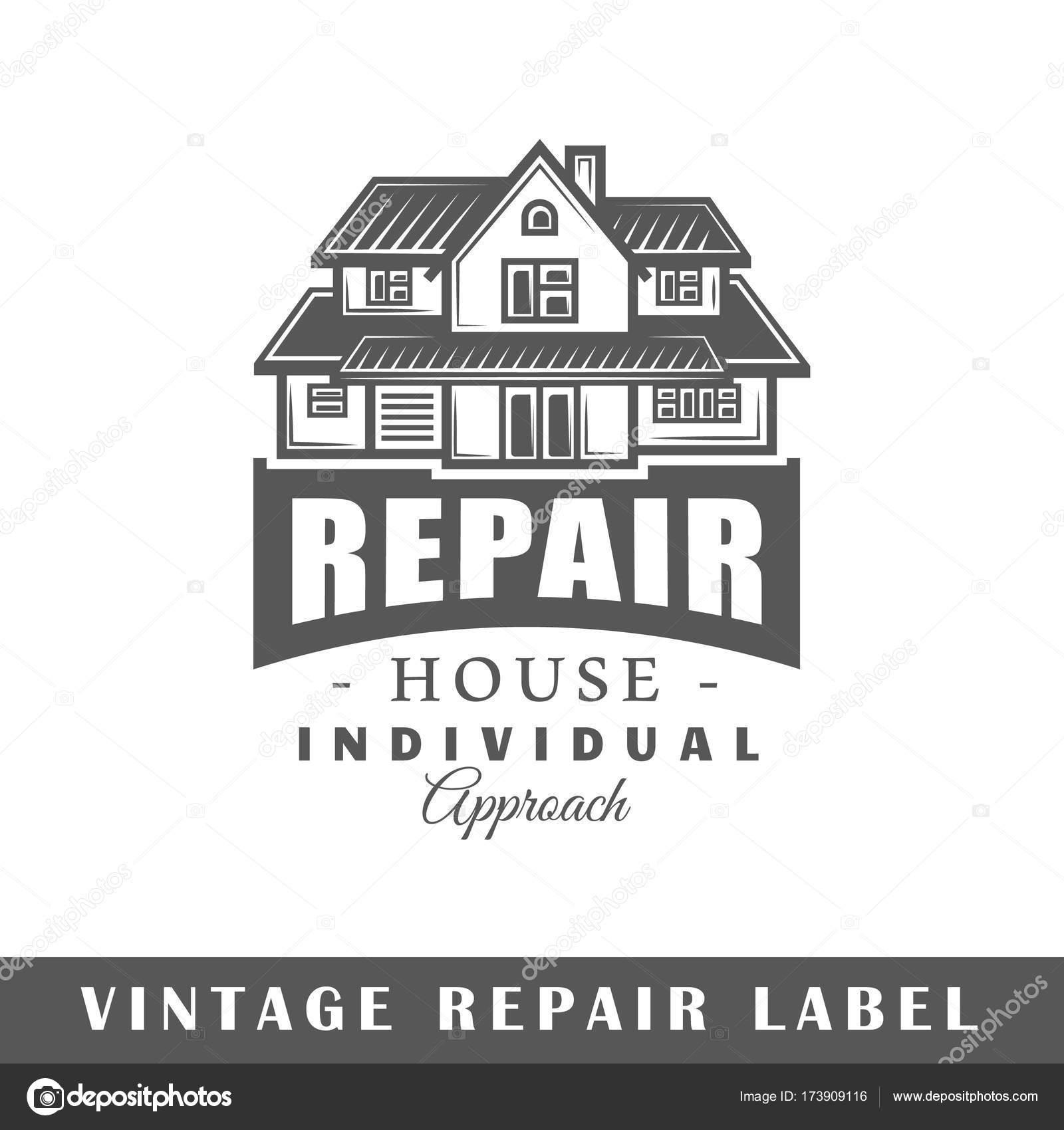 Modèle Détiquette De Réparation Image Vectorielle