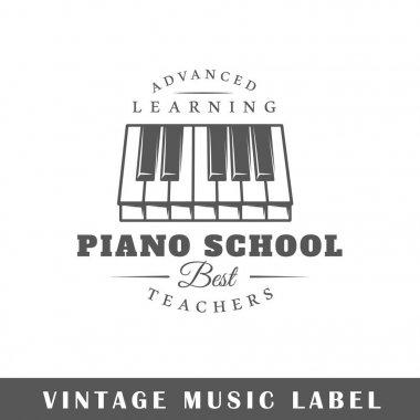 Music label template