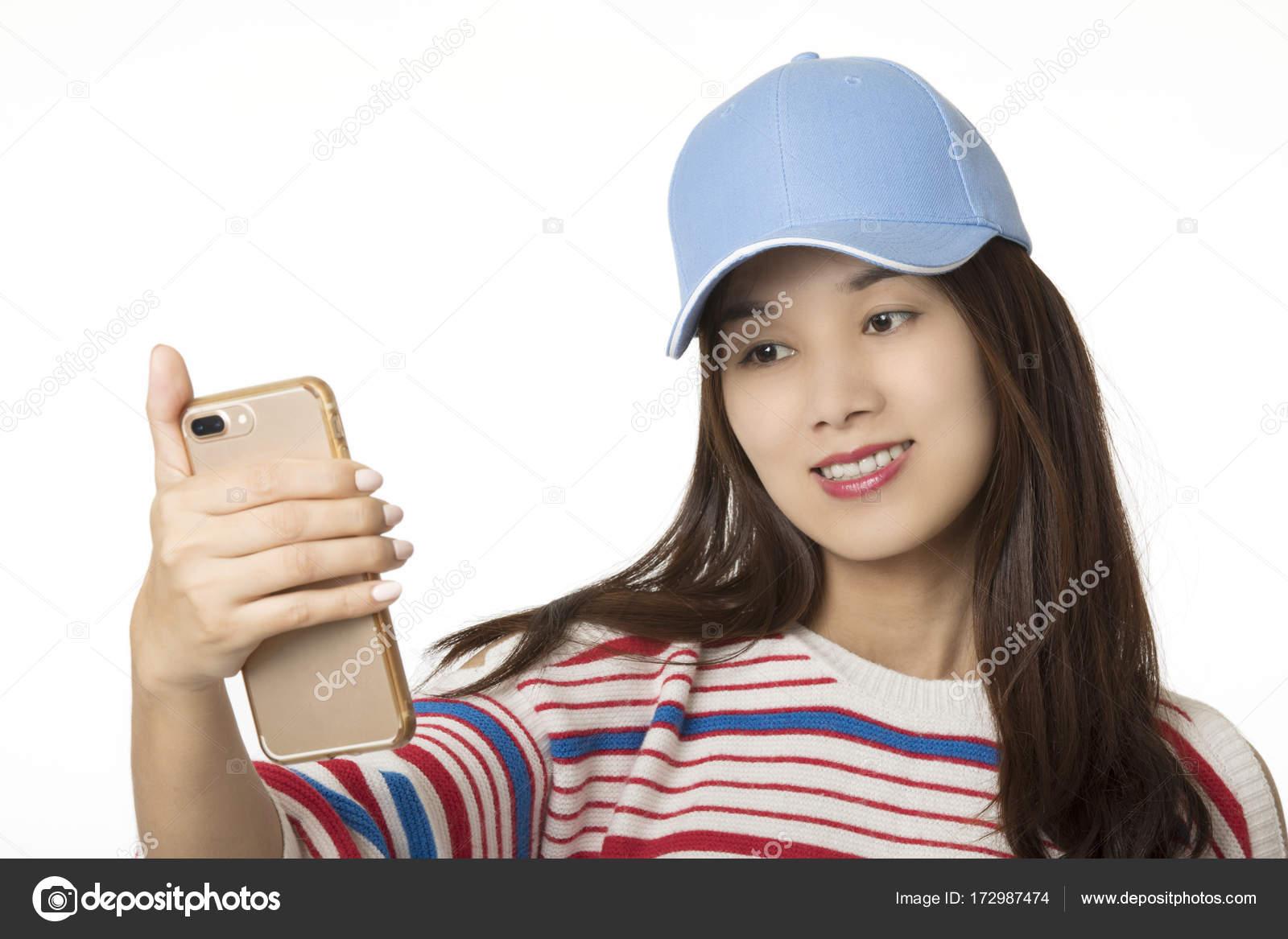 Asiatische Frau Selfie