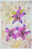 Childs akvarell, rajz, virágok