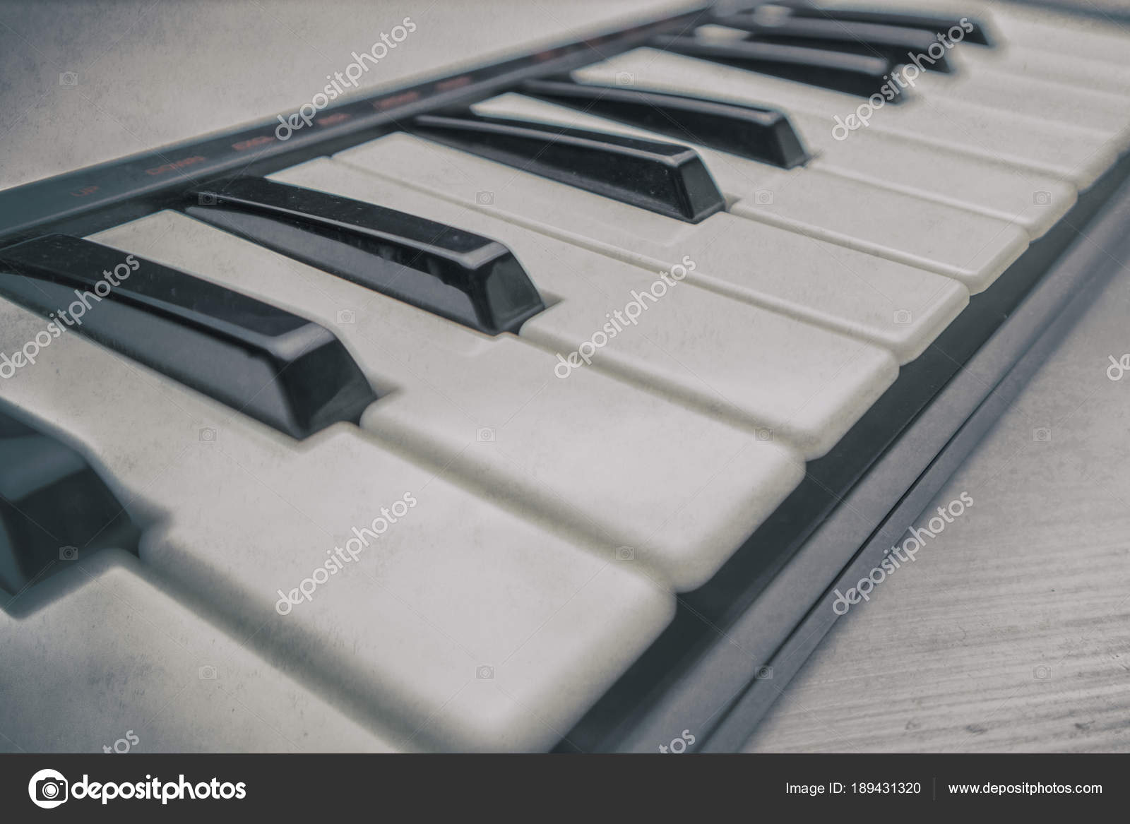 Midi Keyboard Keys Closeup — Stock Photo © vinni-l@list ru #189431320