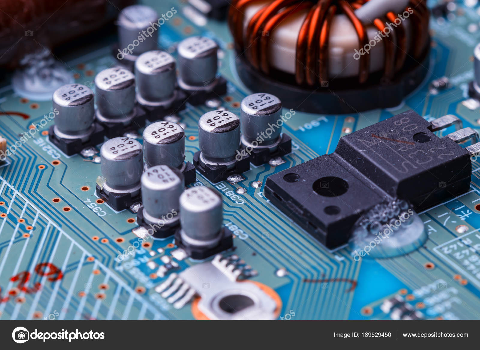 Printed Circuit Board Chips Radio Components Electronics