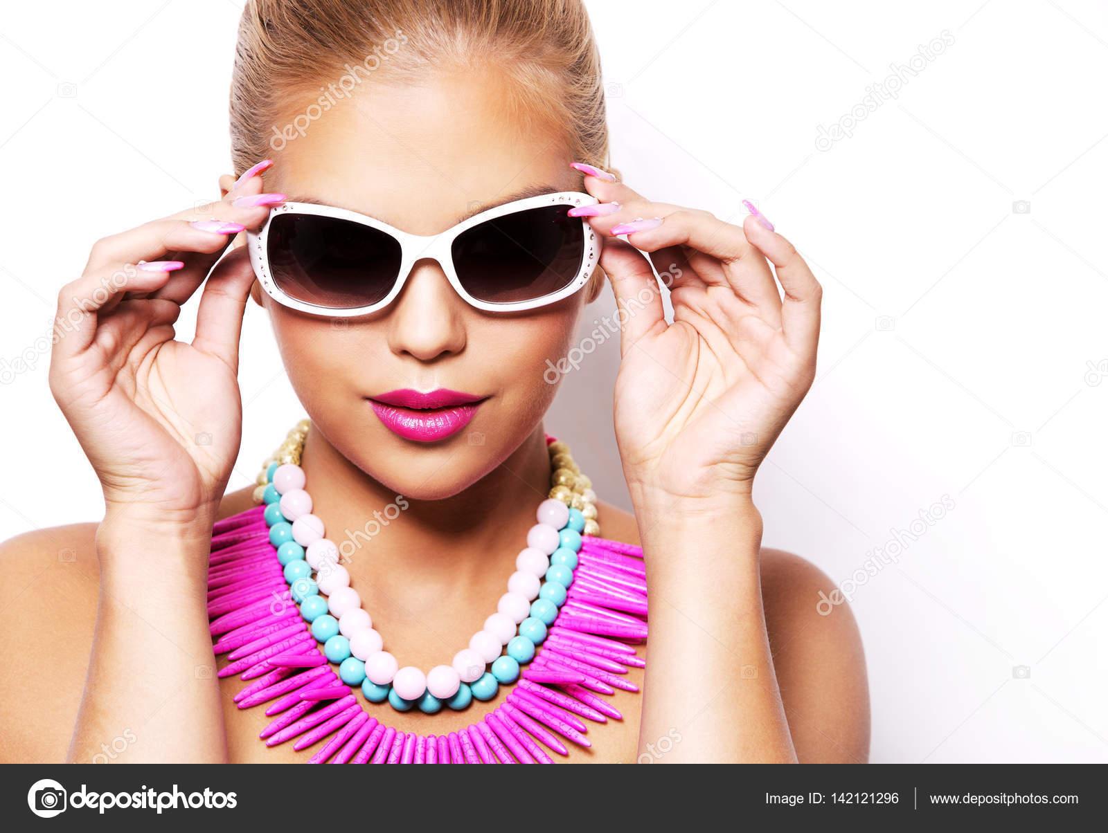 divat tavaszi nyári szőke nő tökéletes bőr — Stock Fotó © zdenkam ... b61c91f8cc