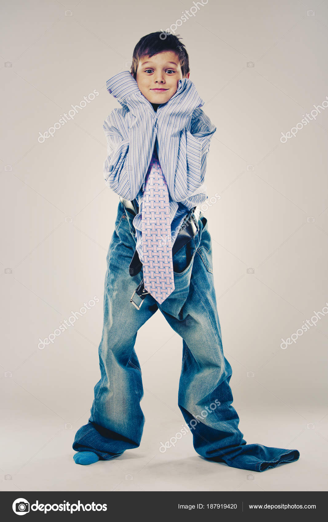 Cảm Cười...chơi - Page 40 Depositphotos_187919420-stock-photo-funny-boy-wearing-dads-clothes
