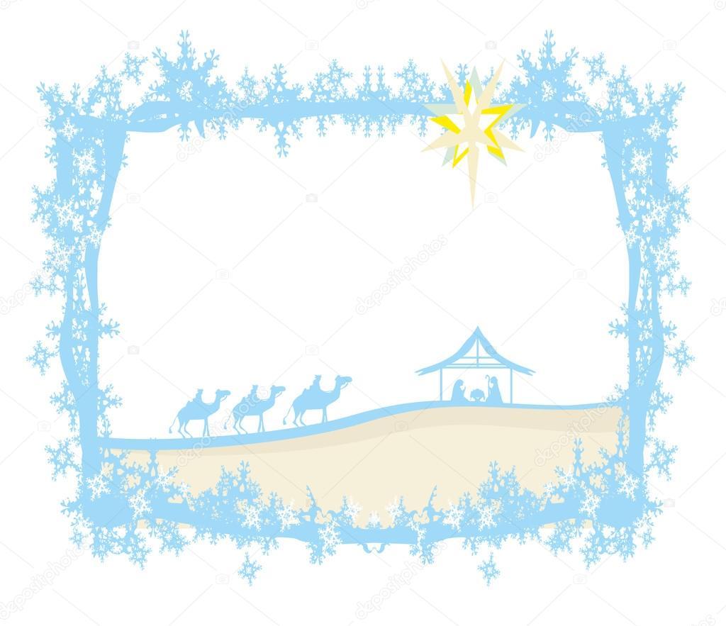 Geburt Jesu in Bethlehem - abstrakten Rahmen — Stockvektor ...