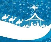 narození Ježíše v Betlémě - abstraktní karta
