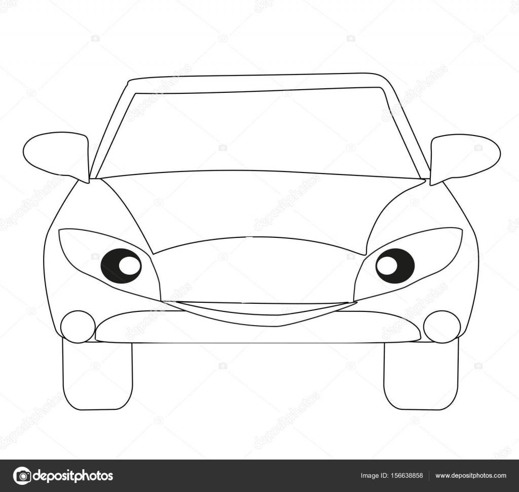 車の漫画のキャラクター分離の塗り絵 ストックベクター Jackybrown