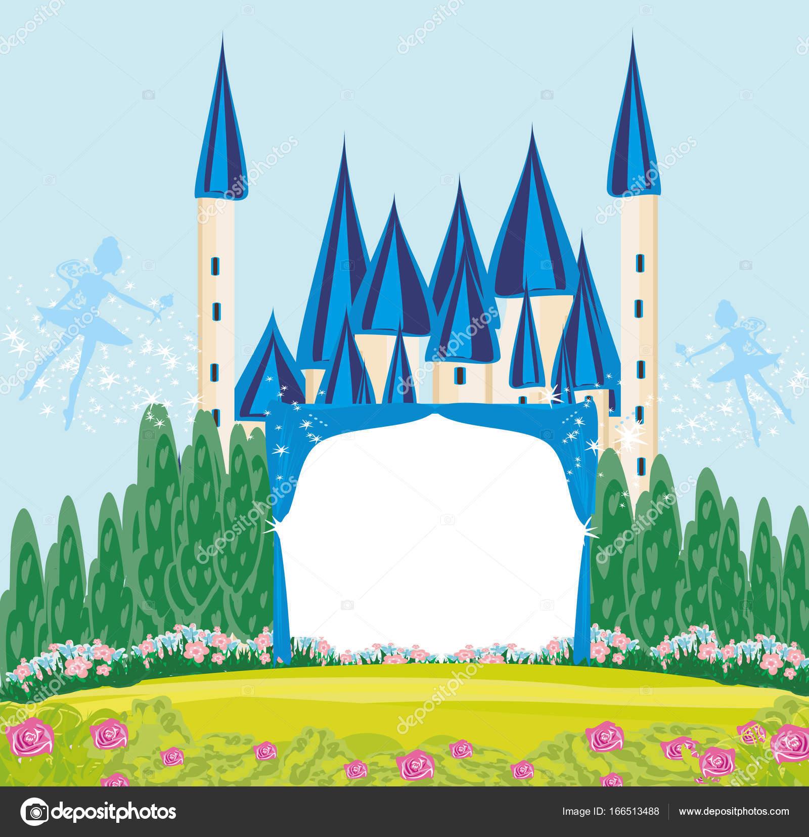 Moldura Castelo De Princesa De Conto De Fadas De Magia