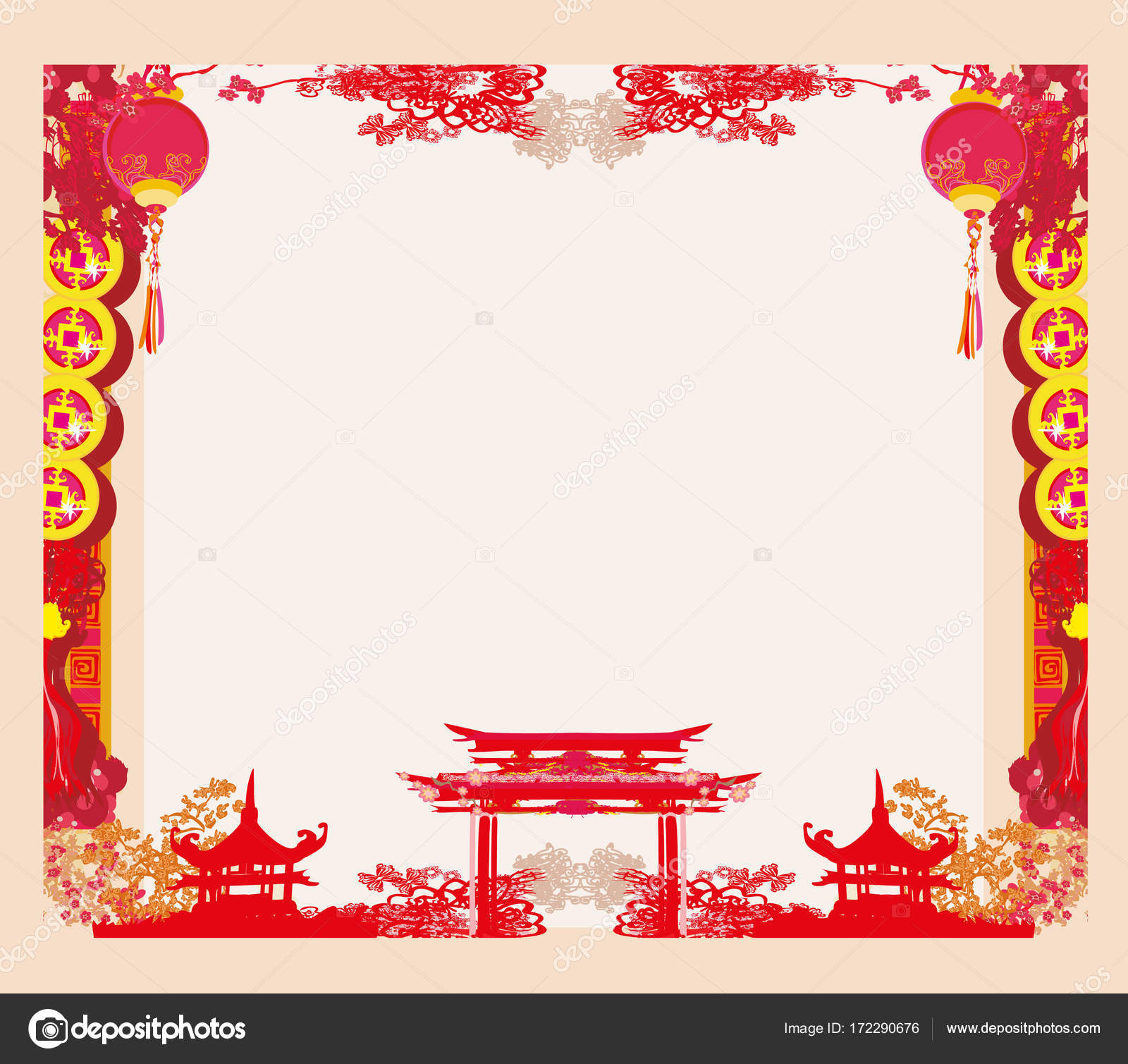 Mid-Autumn Festival for Chinese New Year - frame — Stock Vector ...