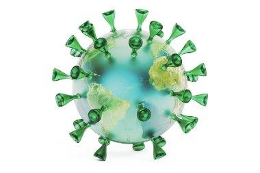 Virus Earth, 3D rendering