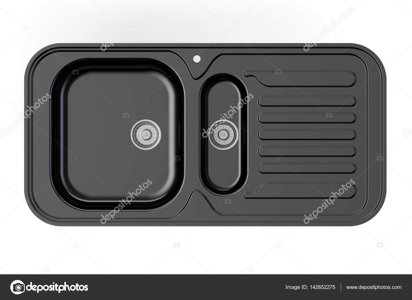 Black kitchen sink top view 3d rendering stock photo alexlmx black kitchen sink top view 3d rendering isolated on white background photo by alexlmx workwithnaturefo