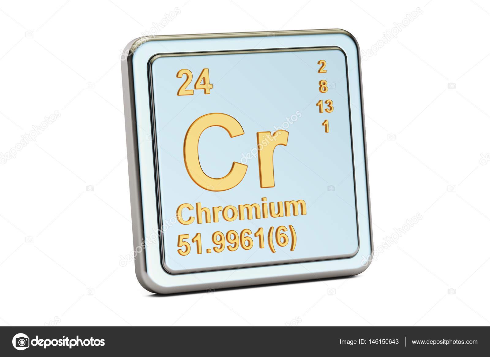 Chromium Cr Chemical Element Sign 3d Rendering Stock Photo