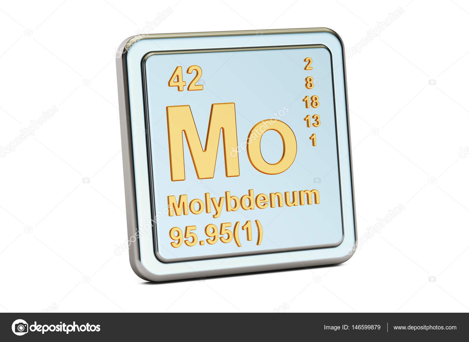 Molybdenum Mo Chemical Element Sign 3d Rendering Stock Photo