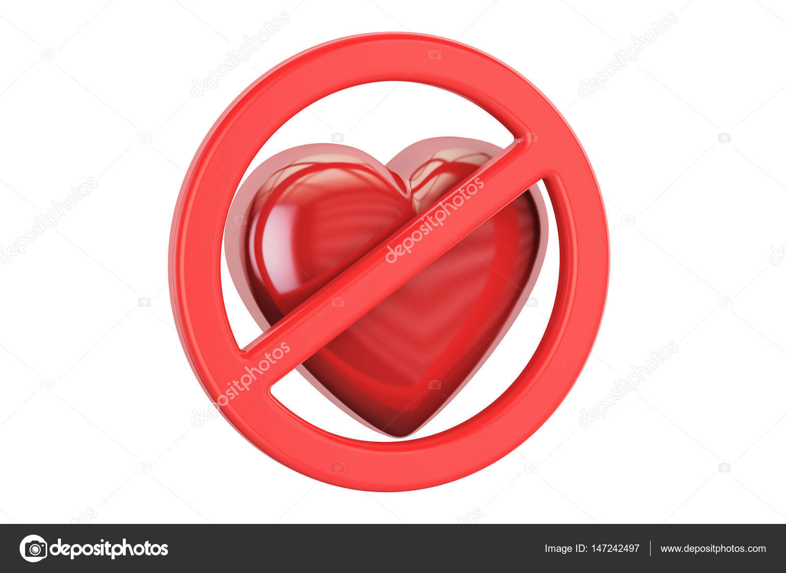 Red heart with forbidden sign 3d rendering stock photo red heart with forbidden sign 3d rendering stock photo buycottarizona