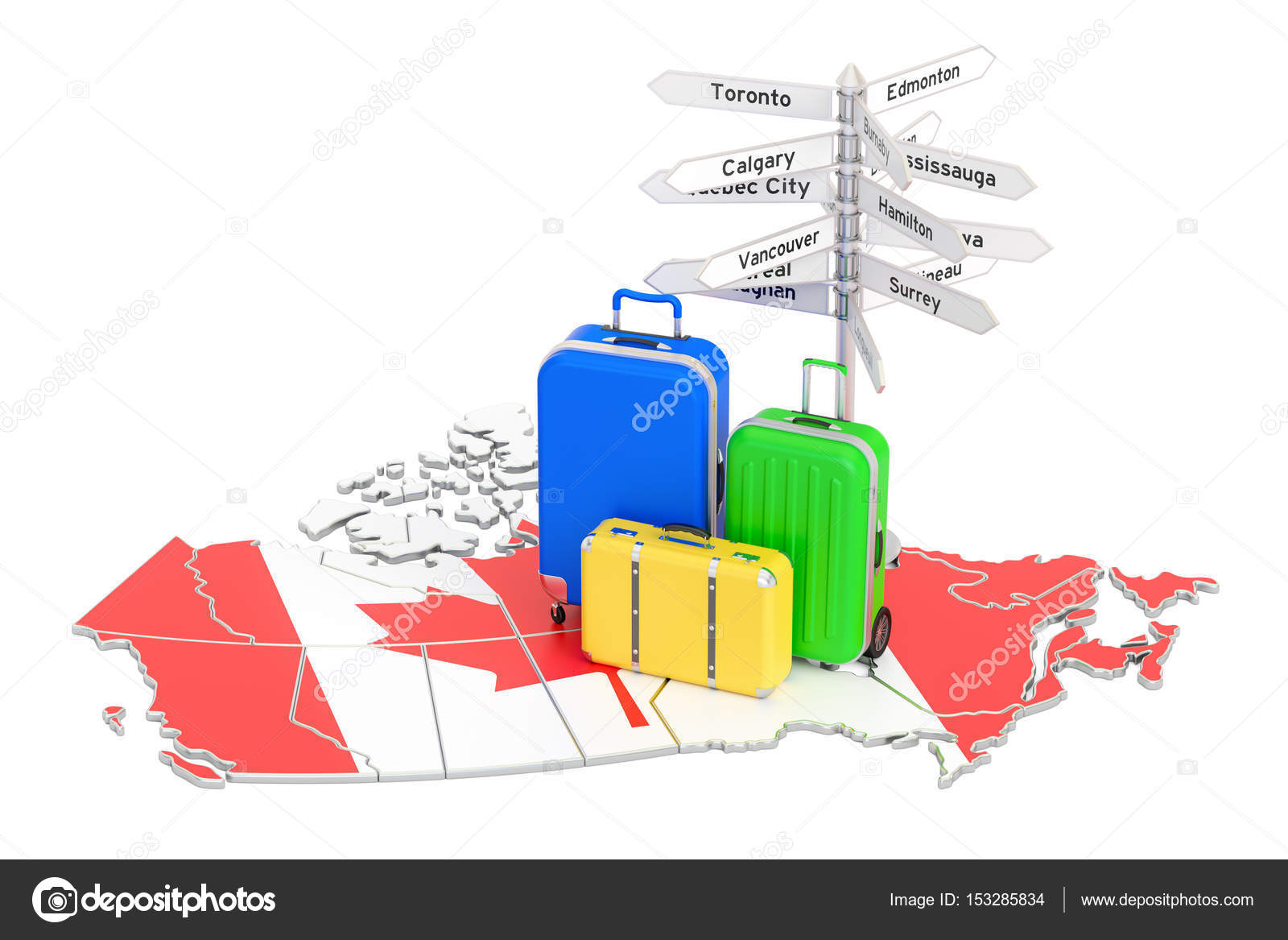 Canada travel concept. Canadian flag on map with suitcases ... on blank canada map, canada physical map, european map, french map, uk map, prince edward island map, costa rican map, serb map, lakes in canada map, washington map, united states map, vancouver canada map, alaska map, british columbia map, p.e.i map, chinese map, banff canada map, canada provinces map, canda map, american map,