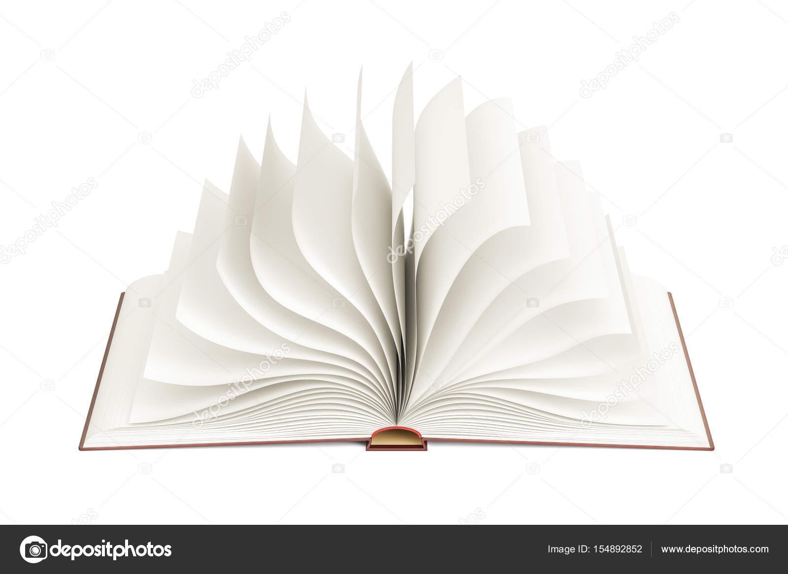 Geöffnete leere Buch, Vorlage. 3D-Rendering — Stockfoto © alexlmx ...