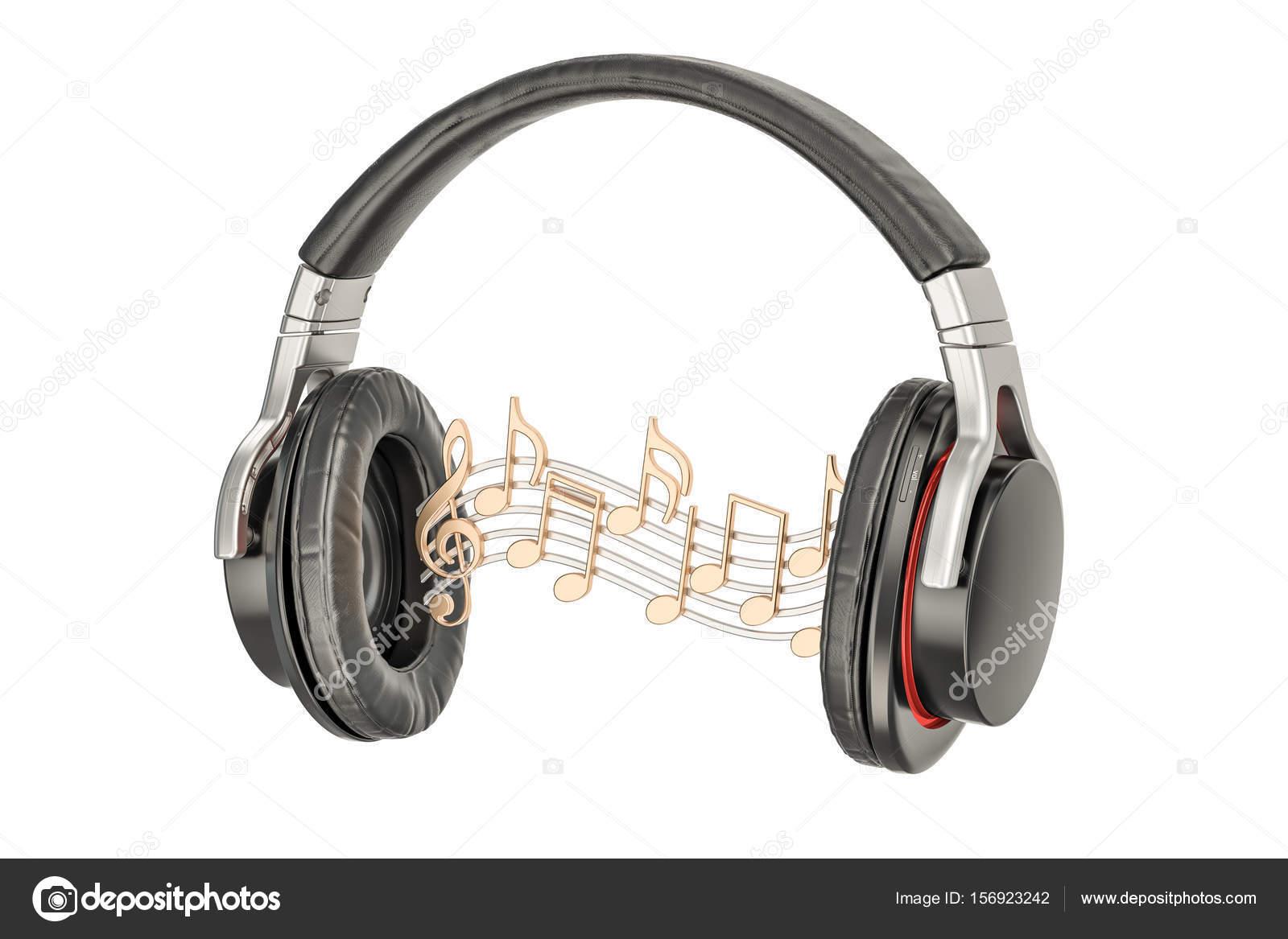 Imágenes Audifonos Con Notas Musicales Auriculares Con Notas